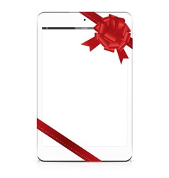 gift tablet white vector image