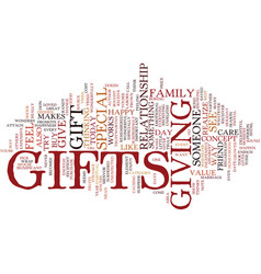 Gifts make others feel special text background vector