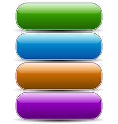 Glossy empty rounded button banner backgrounds vector
