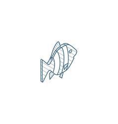 goldfish isometric icon 3d line art technical vector image