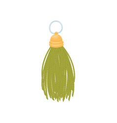 Green tassel with gold top on vector