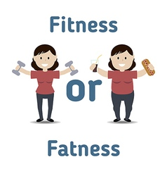 Healthy and unhealthy lifestyle concept vector image