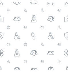 help icons pattern seamless white background vector image