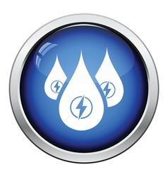 Hydro energy drops icon vector image
