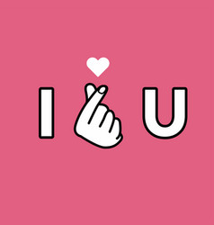 i love you hand making mini heart sign vector image