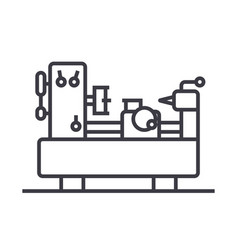industrial machine equipment line icon vector image