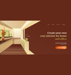 interior apartment concept banner for a home page vector image