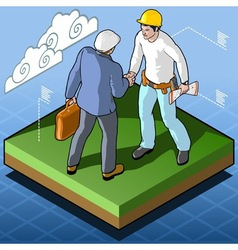 Isometric Infographic Building Certification vector