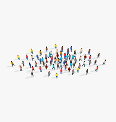 Large and diverse group people gathered vector