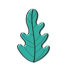 Leaf plant ecology hand draw style icon vector