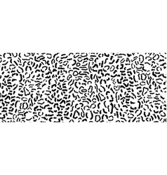 leopard black and white fur pattern vector image