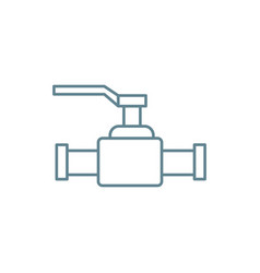 lever valve linear icon concept lever valve line vector image