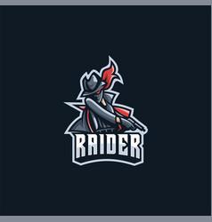 logo raider e sport and sport style vector image