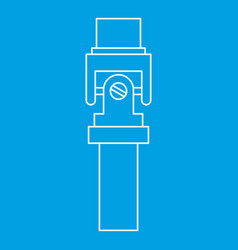 Mechanic detail icon outline style vector