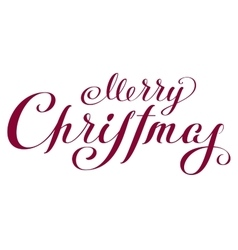 Merry Christmas Lettering handwritten text for vector