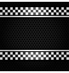 Metallic perforated gray sheet vector image