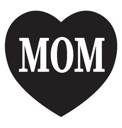 Mom in heart icon on white background flat style vector