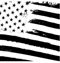 Monochrome grunge american flag background vector