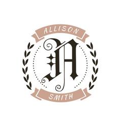 monogram logo designs classic name vector image