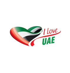 National flag united arab emirates in the vector
