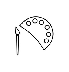 paint icon vector image