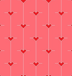 Pattern with stylized Minimalistic hearts vector image