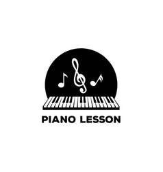 piano music composer concert logo design vector image