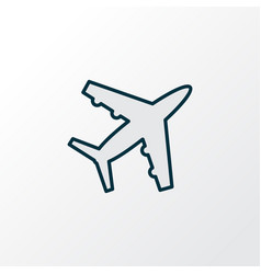 plane icon colored line symbol premium quality vector image