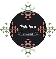 Potatoes vegetables vector