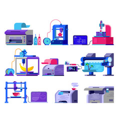 printer print machine technology office vector image