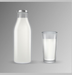 realistic transparent closed full glass vector image