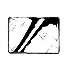 rectangle glass vector image