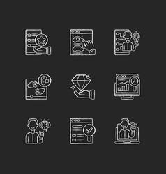 responsive website design chalk white icons set vector image