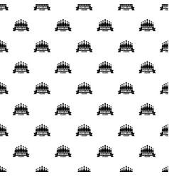 ribbon bowling club pattern seamless vector image