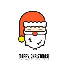 Santa claus head isolated icon vector