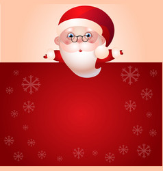 santa claus with red empty message board vector image