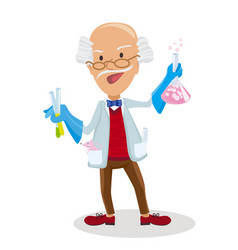 scientist with testube in vector image