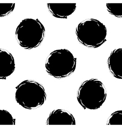 Seamless pattern of grunge polka dots vector