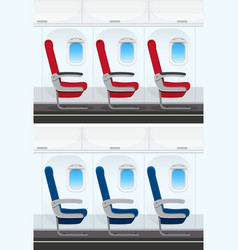set of airplane seat layout vector image