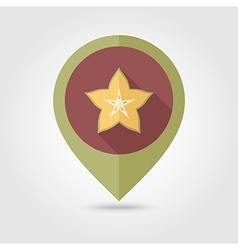 Starfruit Carambola Carom pin map icon Fruit vector image