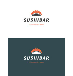 sushi restaurant emblem logo template vector image