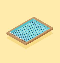 swimming pool isometric flat design vector image
