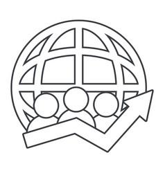 technology web icon cartoon vector image