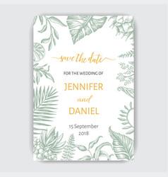 Template for wedding invitation vector