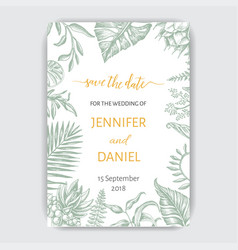 Template for wedding invitation with vector