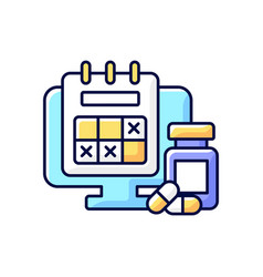 Tracking sick leave time rgb color icon vector