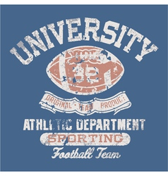 University football athletic department vector image