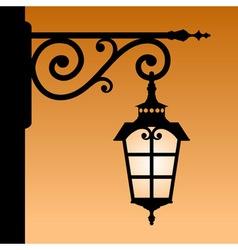 Vintage lantern vector image