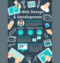 Web design technology poster vector