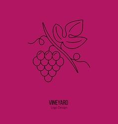Winemaking wine tasting logotype design concept vector image